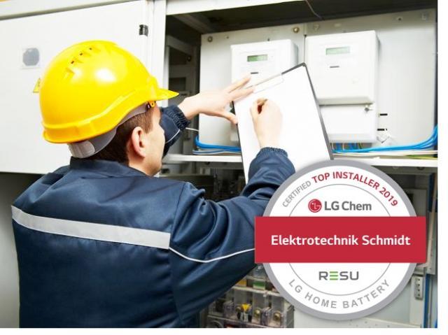 Elektrotechnik Schmidt - LG Chem Top Installer Partner 2019